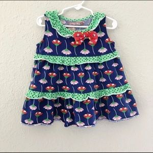 Jelly The Pug Girls Floral Dress Size 4
